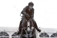 Juliana Starbuck winning the meter 45 at the Winter Equestrian Festival